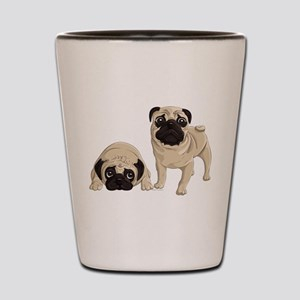 Pugs Shot Glass