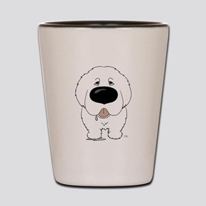 Big Nose Great Pyrenees Shot Glass