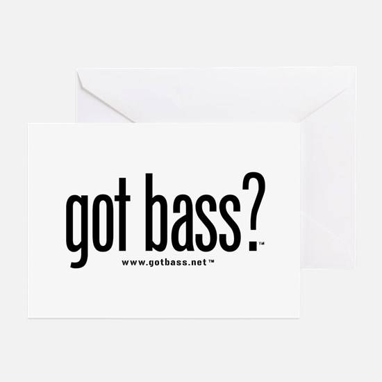 got bass?  Greeting Cards (Pk of 10)