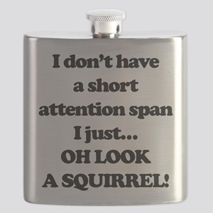 Oh Look A Squirrel Flask