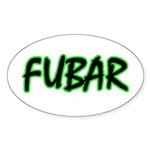 FUBAR ver3 Oval Sticker
