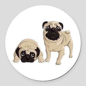Pugs Round Car Magnet