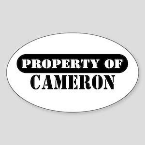 Property of Cameron Oval Sticker