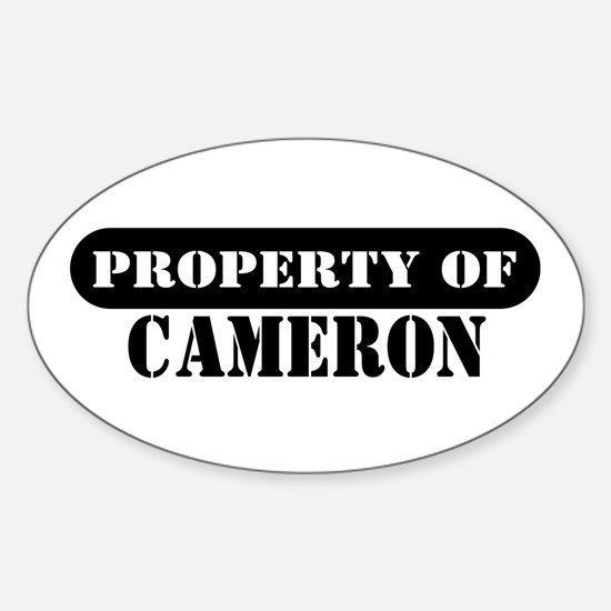 Property of Cameron Oval Decal