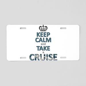 keep calm & cruise Aluminum License Plate