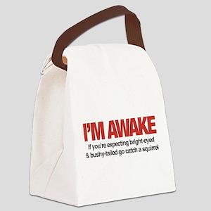 I'm Awake Canvas Lunch Bag