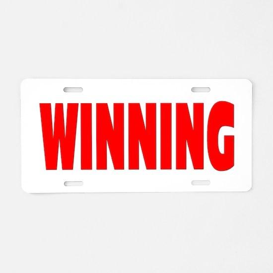 WINNING Aluminum License Plate