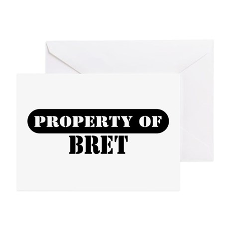 Property of Bret Greeting Cards (Pk of 10)
