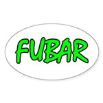FUBAR ver4 Oval Sticker