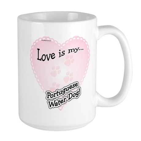 Love is my Portugese Water Dog Large Mug