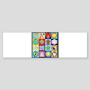 World Squares Bumper Sticker