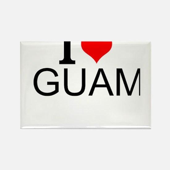 I Love Guam Magnets