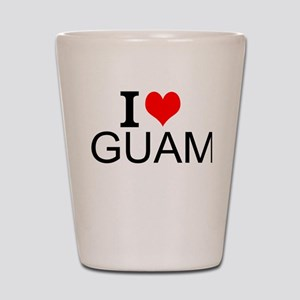 I Love Guam Shot Glass