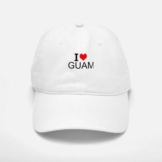 I Love Guam Baseball Baseball Baseball Cap