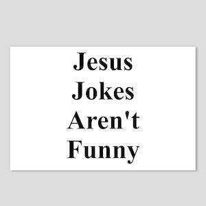 Jesus Jokes Aren't Funny Postcards (Package of 8)
