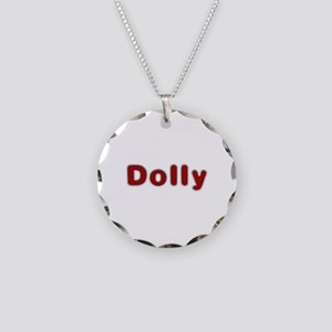 Dolly Santa Fur Necklace Circle Charm