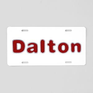 Dalton Santa Fur Aluminum License Plate