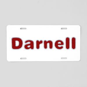 Darnell Santa Fur Aluminum License Plate