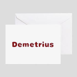 Demetrius Santa Fur Greeting Card