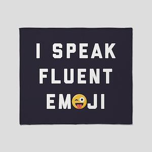 I Speak Fluent Emoji Throw Blanket