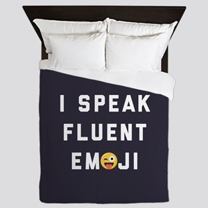I Speak Fluent Emoji Queen Duvet