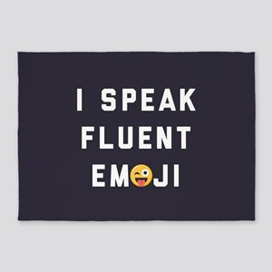 I Speak Fluent Emoji 5'x7'Area Rug