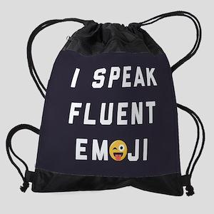I Speak Fluent Emoji Drawstring Bag