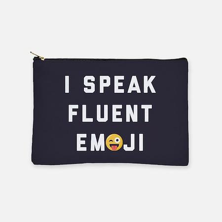 I Speak Fluent Emoji Makeup Pouch