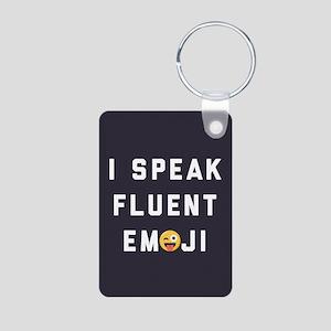 I Speak Fluent Emoji Aluminum Photo Keychain