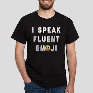 I Speak Fluent Emoji Dark T-Shirt