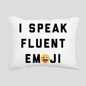 I Speak Fluent Emoji Rectangular Canvas Pillow