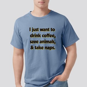 Drink Coffee Save Animal Mens Comfort Colors Shirt