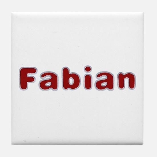 Fabian Santa Fur Tile Coaster