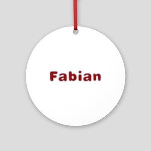 Fabian Santa Fur Round Ornament