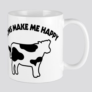 Cows Make Me Happy 11 oz Ceramic Mug