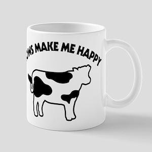 Cows Make Me Happy 11 oz Ceramic Mug