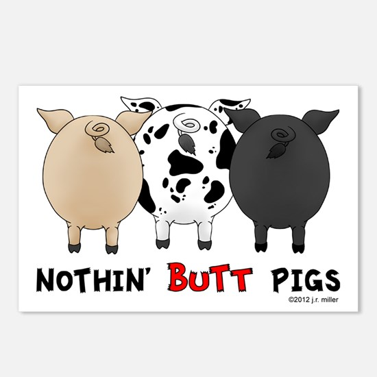 Nothin' Butt Pigs Postcards (Package of 8)