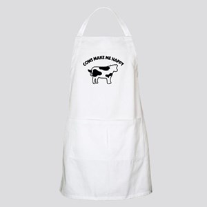 Cows Make Me Happy Light Apron