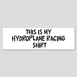 My Hydroplane Racing Bumper Sticker