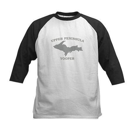 Upper Peninsula Yooper - Silv Kids Baseball Jersey