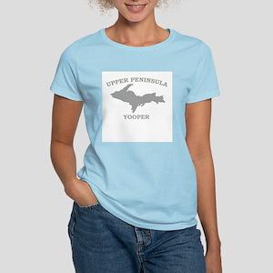 Upper Peninsula Yooper - Silv Women's Pink T-Shirt