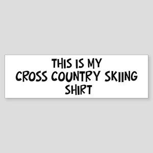 My Cross Country Skiing Bumper Sticker