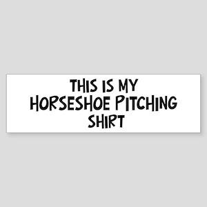 My Horseshoe Pitching Bumper Sticker