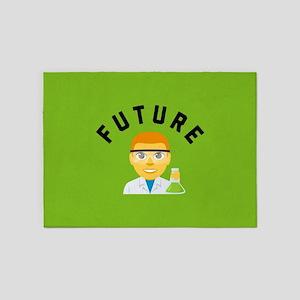 Future Scientist Emoji 5'x7'Area Rug