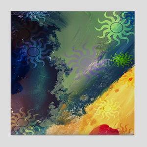 Spiral Sun Waves Tile Coaster