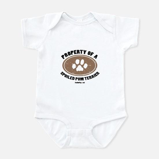 Pom Terrier dog Infant Bodysuit