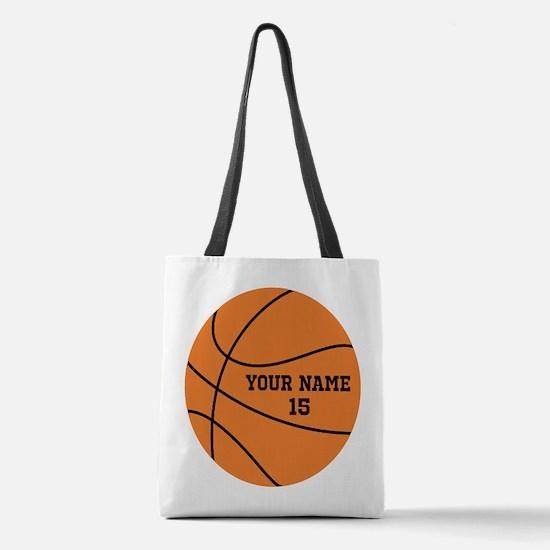 Custom Basketball Polyester Tote Bag