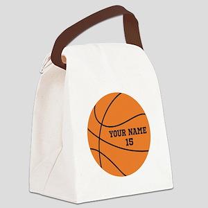 Custom Basketball Canvas Lunch Bag
