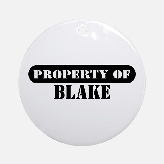 Property of Blake Ornament (Round)