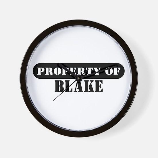 Property of Blake Wall Clock